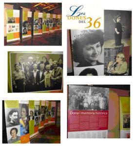 Amb motiu de les II Jornades, Dona i Memòria Històrica, es pogué veure l'exposició Les dones del 36. El CREM realitzà un plafó relatiu a Santa Perpètua (a baix , a la dreta).