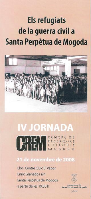 Díptic de les IV JORNADES del CREM