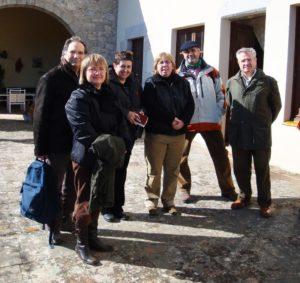 D'esquerra a dreta: Josep Ventura, Angelina Marcè, Maribel Farré, Assumpta Montellà, Francesc Leiva i Rafael Martín