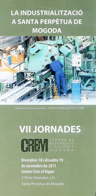 Díptic de les VII JORNADES del CREM