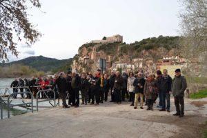 Foto de grup de la sortida a la batalla de l'Ebre