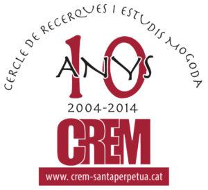 Amb motiu de les X Jornades es presentà el logo del desè aniversari del CREM (disseny Francesc Masip)