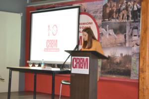 Les X Jornades del CREM foren presentades per Marta Hiraldo, periodista dels Mitjans de Comunicació Municipals. Durant aquestes Jornades, es presentà el logo del 10è aniversari del CREM