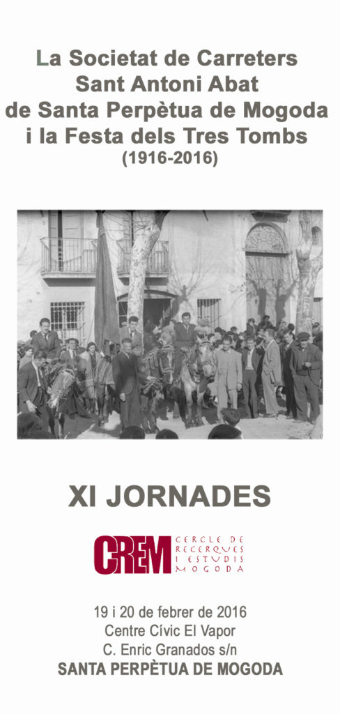 Díptic de les XI JORNADES del CREM