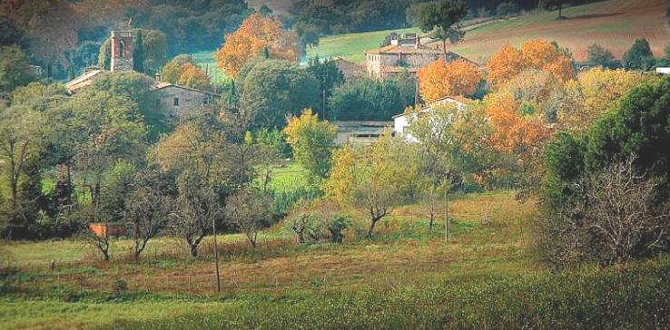 Vista del paratge agroforestal de Santiga