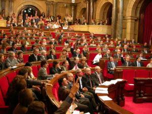 Els diputats en una de les votacions d'esmenes a la Llei del Memorial Democràtic.⎮Parlament de Catalunya. 2007